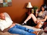 La psychologue baise avec un client
