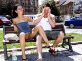 Superbe couple s exhibe et baise en publique